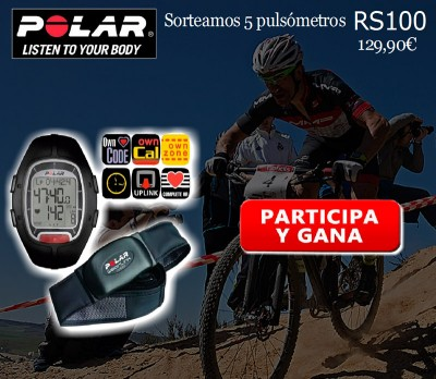 Bicicletas Pasaje sortea 5 pulsómetros Polar RS100