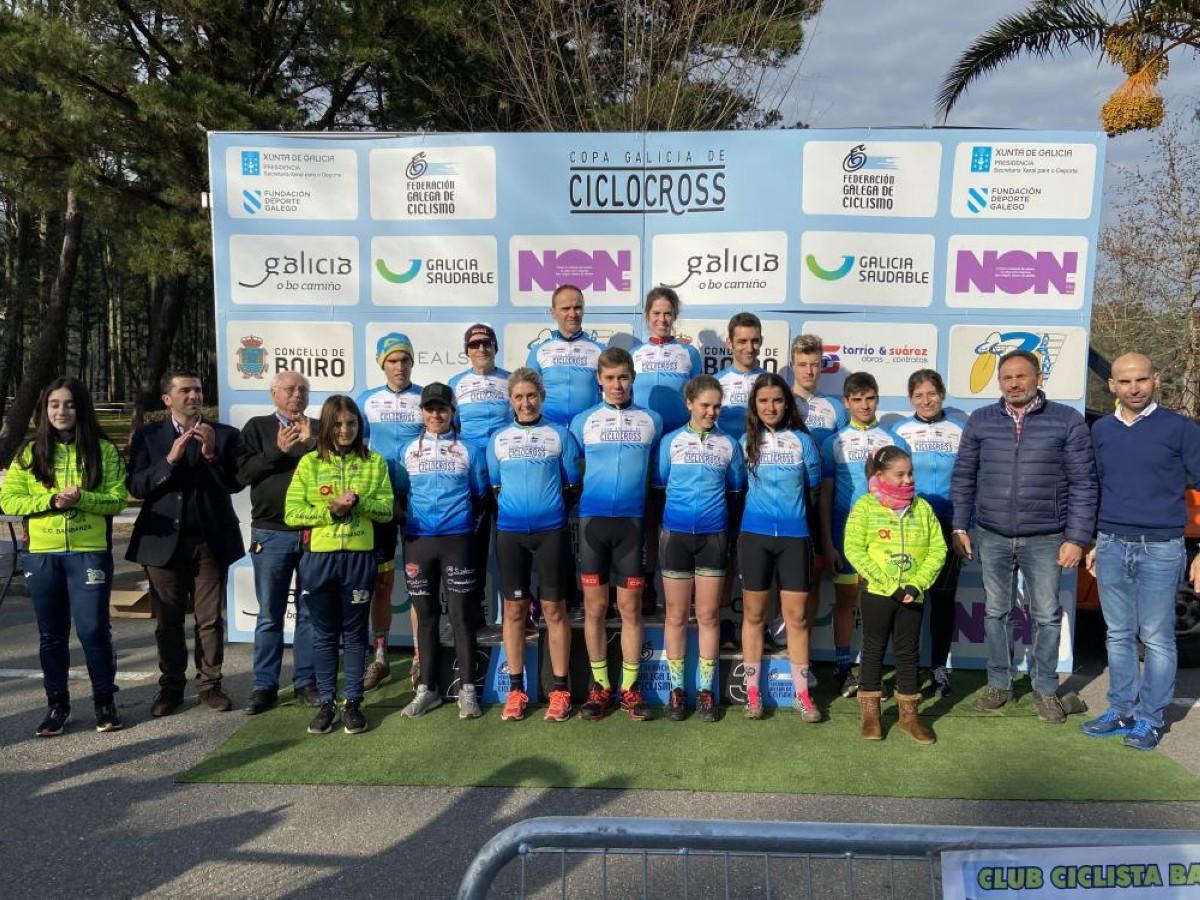 Carla Fernández y Saúl López consolidan su liderazgo de la Copa Galicia en Boiro