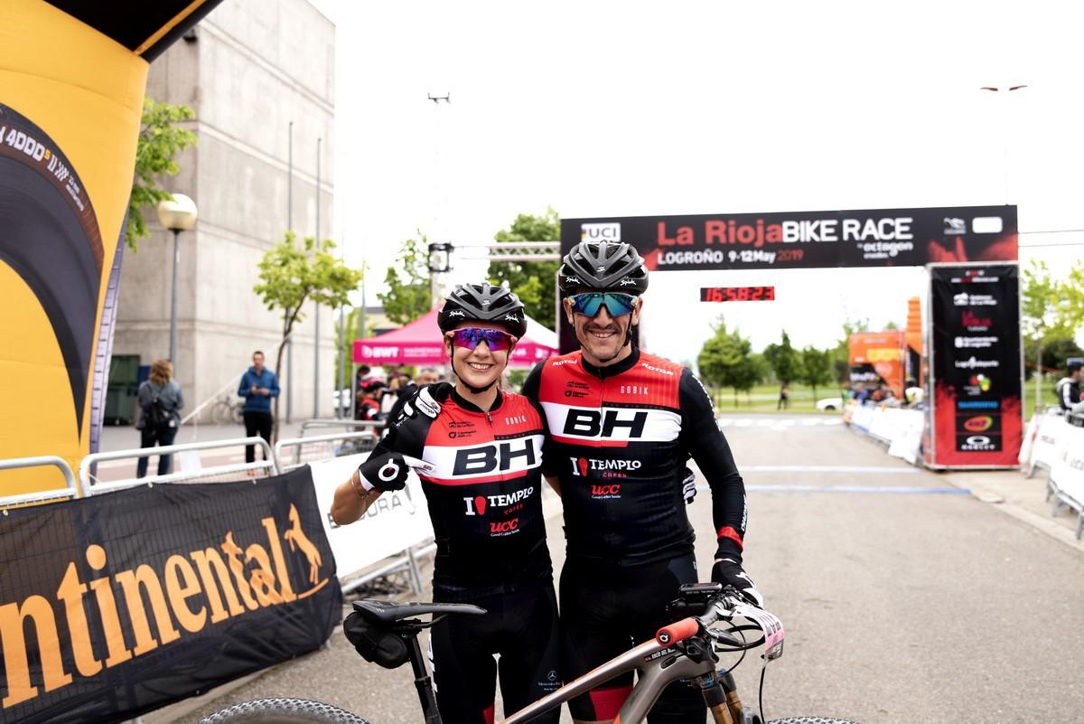 Carlos Coloma y Rocío García ganan la primera etapa de La Rioja Bike Race