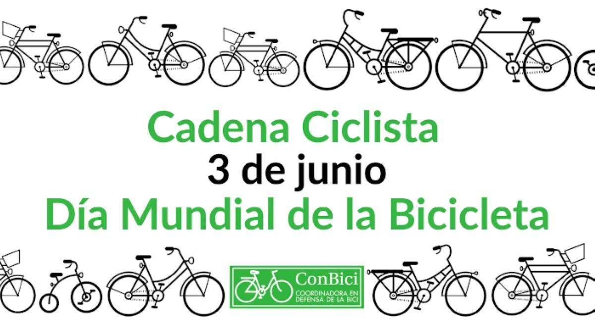 Conbici anima a participar en la Cadena Ciclista en el día Mundial de la Bici 3J