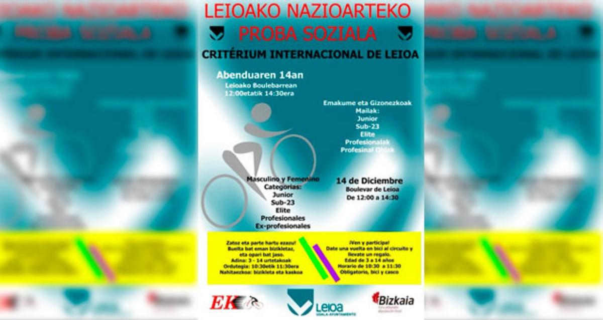 Criterium Social en Leioa con pros, expros, aficionados y féminas
