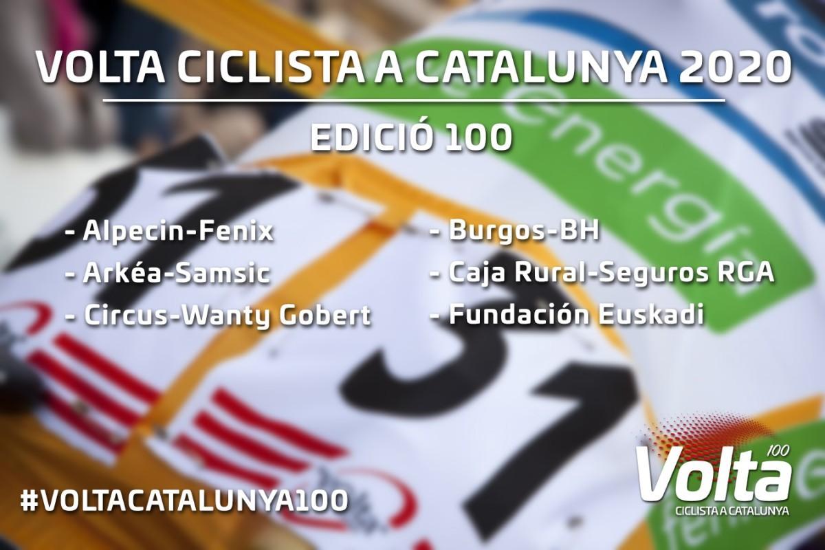Decididos los seis equipos de la categoria UCI ProTeam  para la Volta 2020