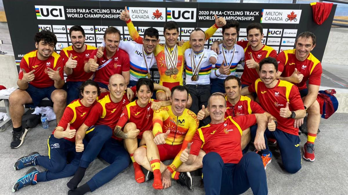 Diez medallas para la selección en el Mundial de ciclismo adaptado en pista