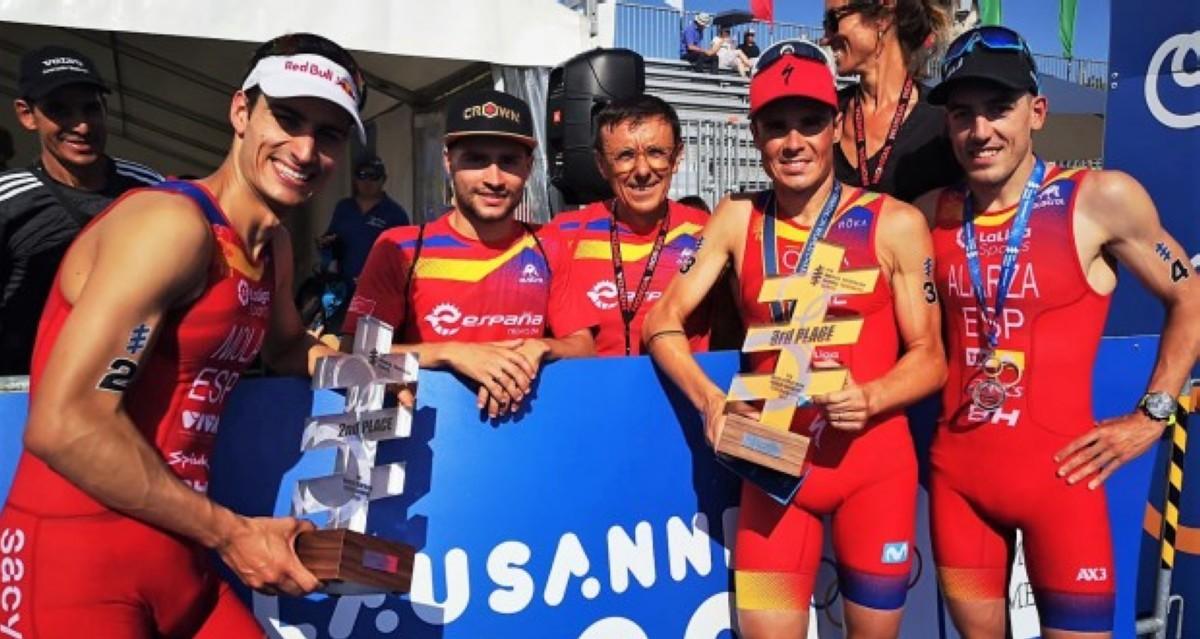 Doble podio en el Campeonato del Mundo de triatlón con Mario Mola y Javier Gómez Noya
