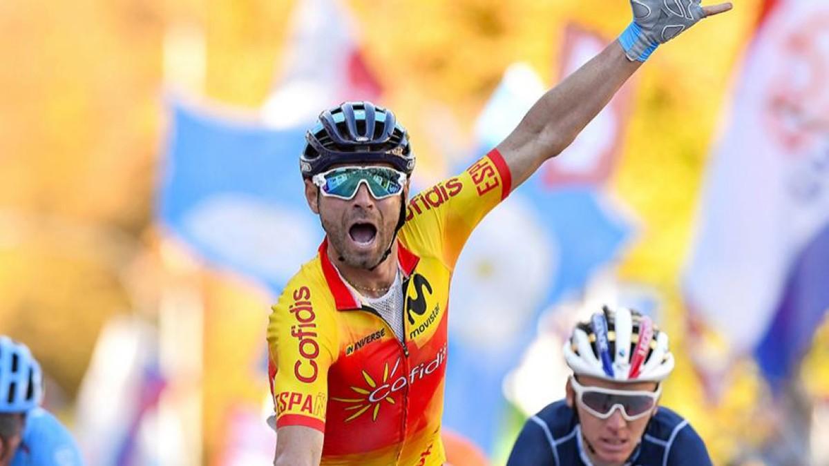 El campeonato del mundo de Valverde se convierte en el recuerdo más especial del #TeamESPciclismo