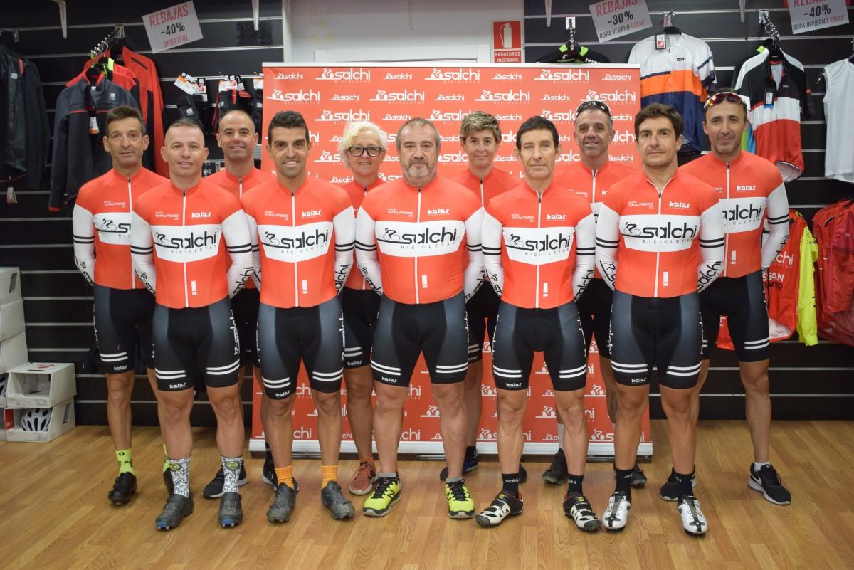 El equipo de ciclocross Salchi Bicicletas se presenta en Coslada