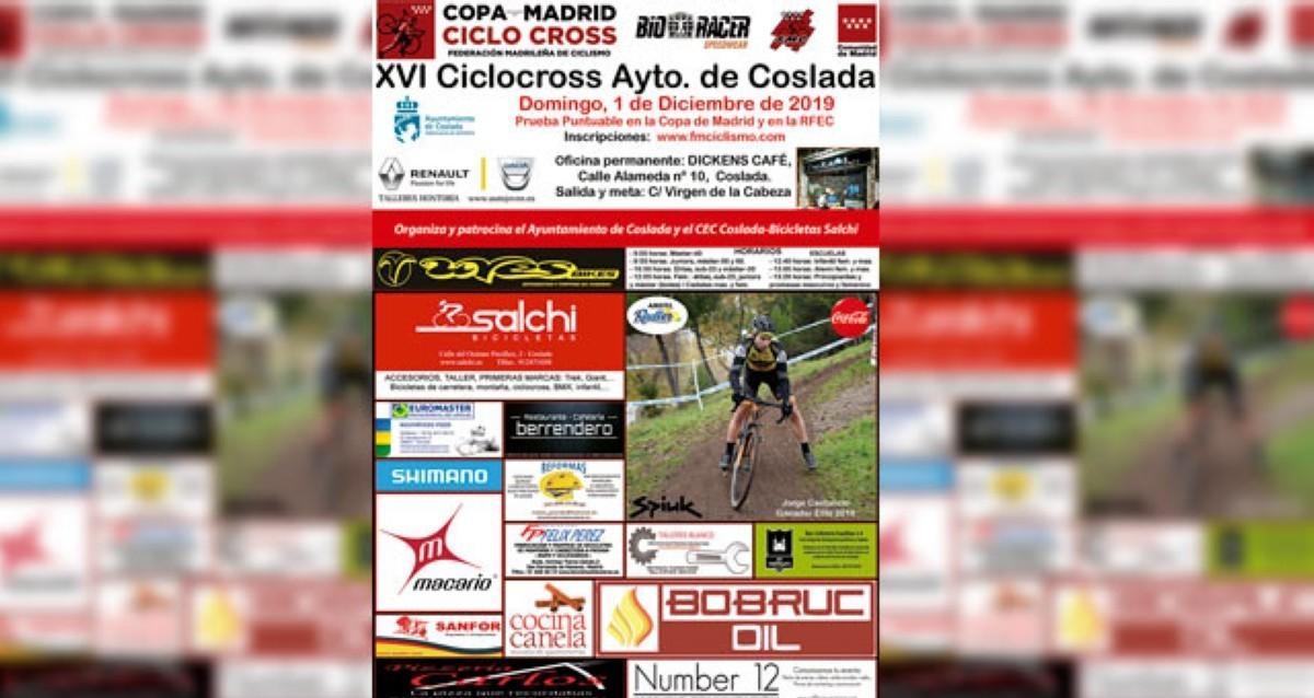 El próximo domingo se disputa el XVI ciclocross de Coslada