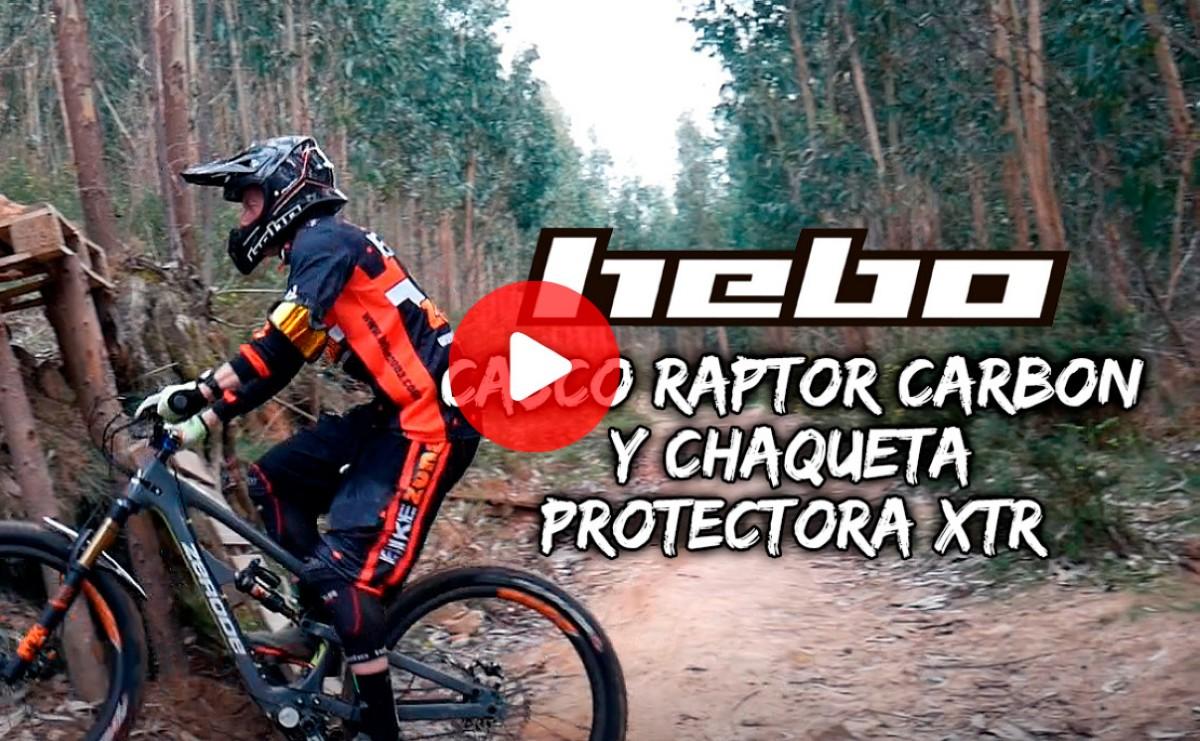 Vídeo: casco RAPTOR CARBON y chaqueta protectora XTR de HEBO