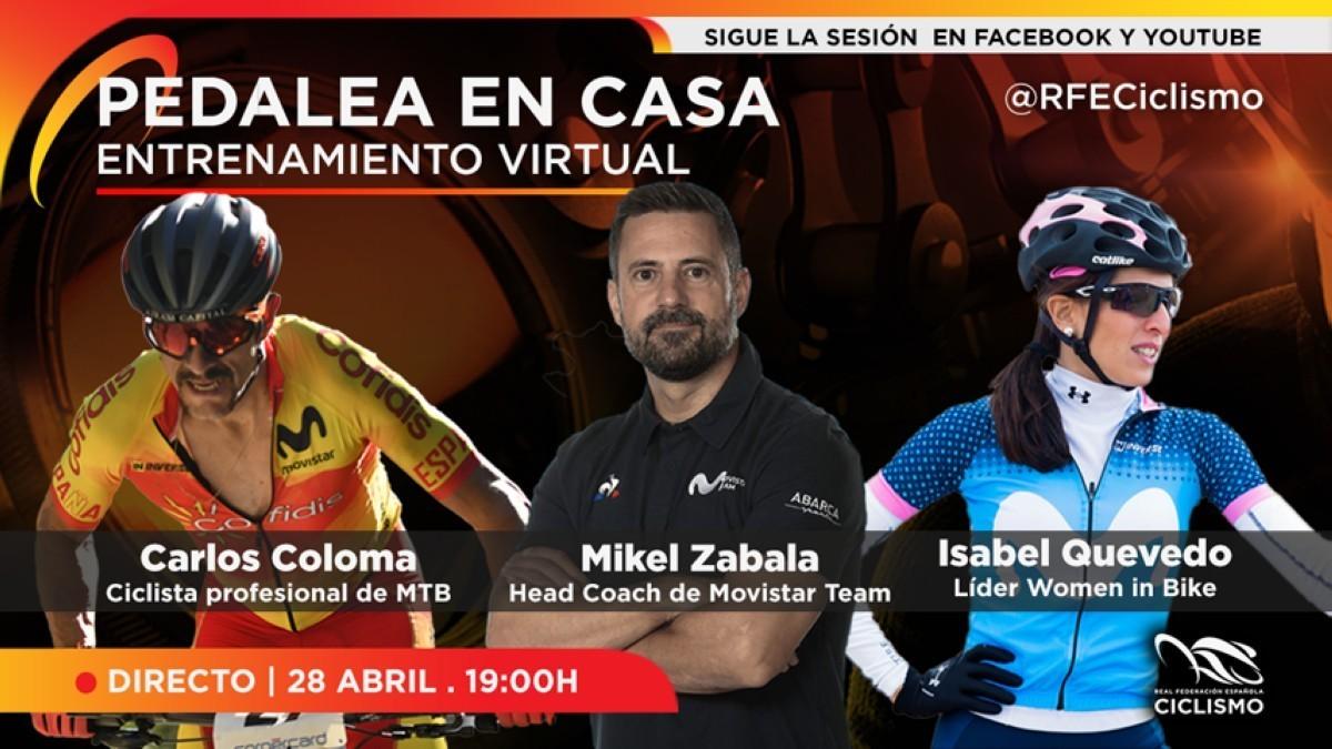 Entrenamiento de rodillo con Carlos Coloma hoy martes a las 19:00
