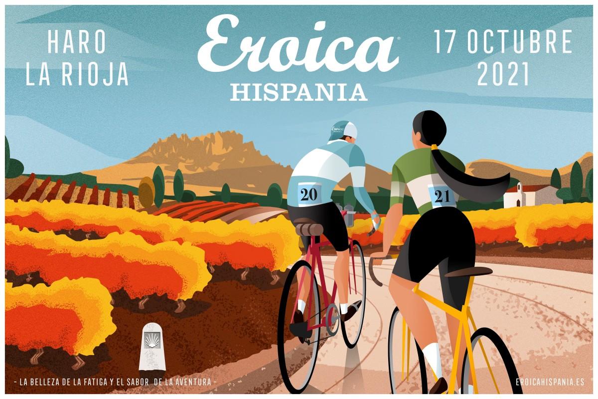 Eroica Hispania 2021, Haro Capital del Rioja, tiene nuevo poster oficial