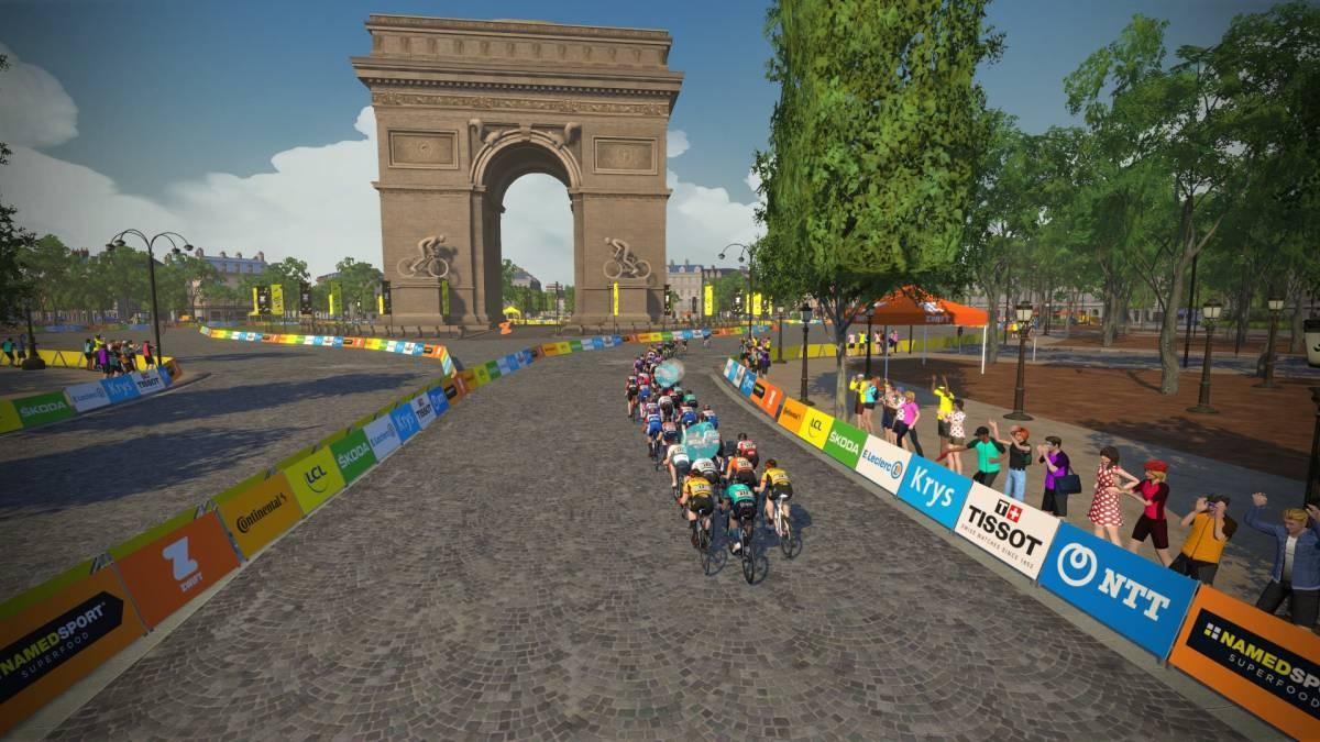 Finalizó en los Campos Elíseos el Tour de Francia Virtual 2020