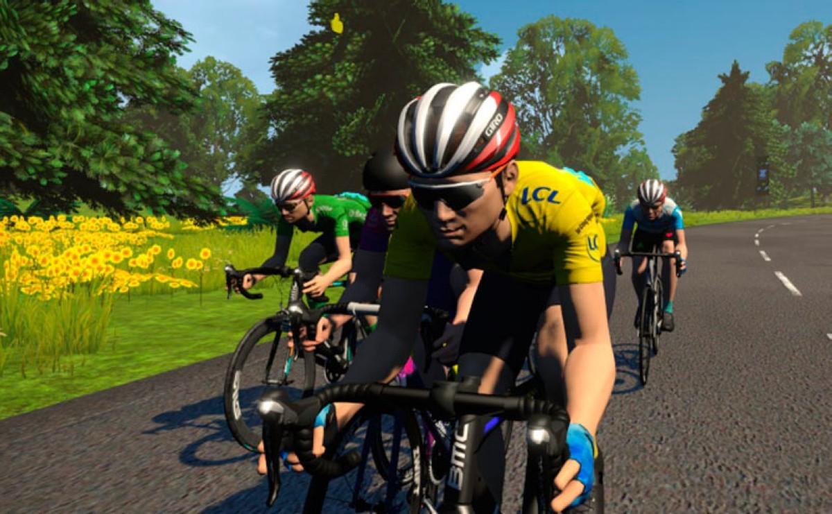 Freddy Ovett y April Tacey brillan en el Tour de Francia Virtual