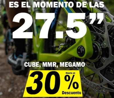 Hasta un 30% de descuento en tu 27.5 en Bicicletas Pasaje