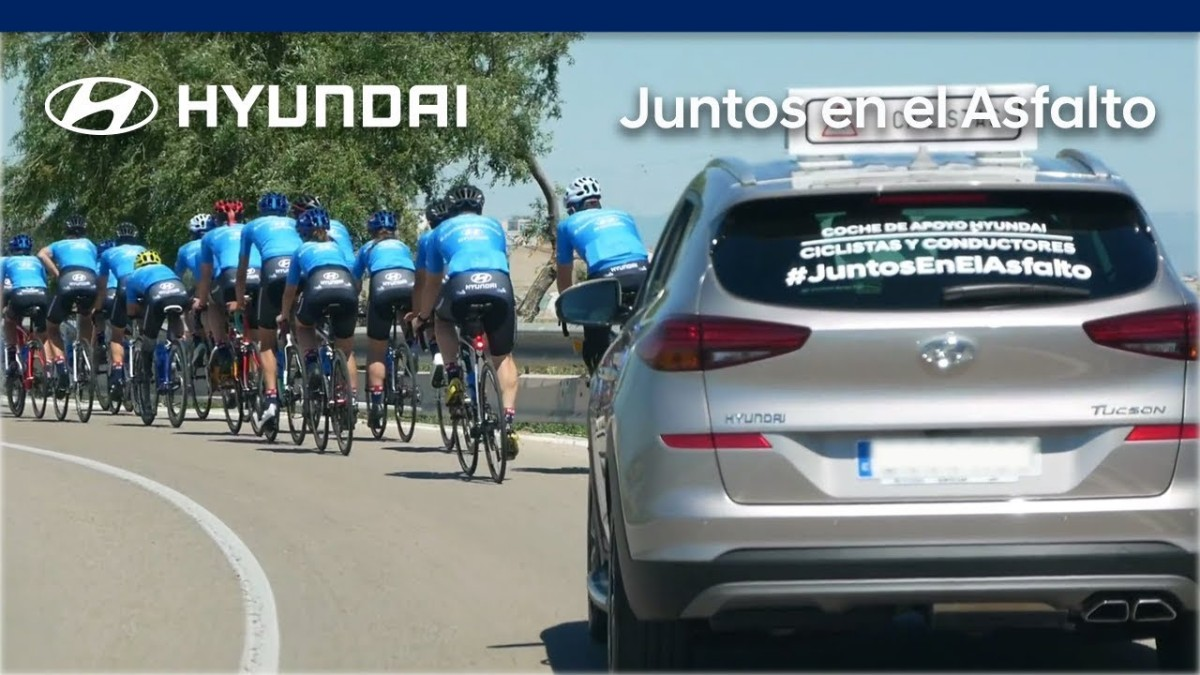 Hyundai presenta su campaña #JuntosEnElAsfalto para ayudar a los ciclistas en la carretera