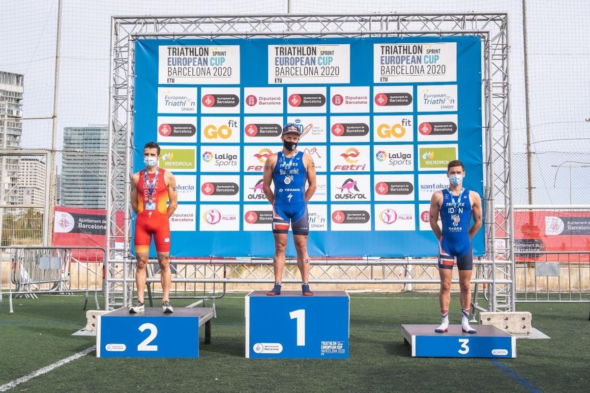Javier Gómez Noya y Anna Godoy logran la plata en la Copa de Europa de Triatlón