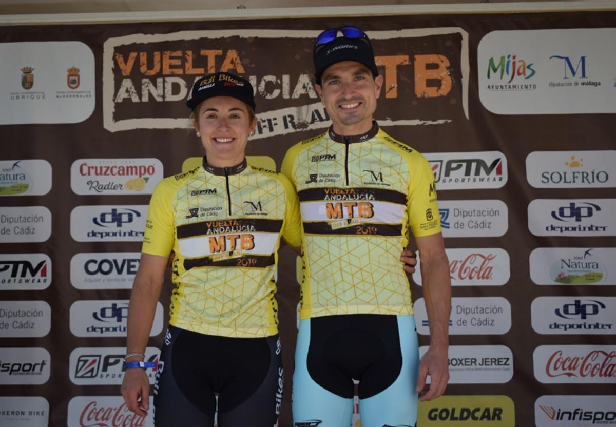 José Luis Carrasco y María Díaz primeros líderes de la Vuelta Andalucía MTB 2019
