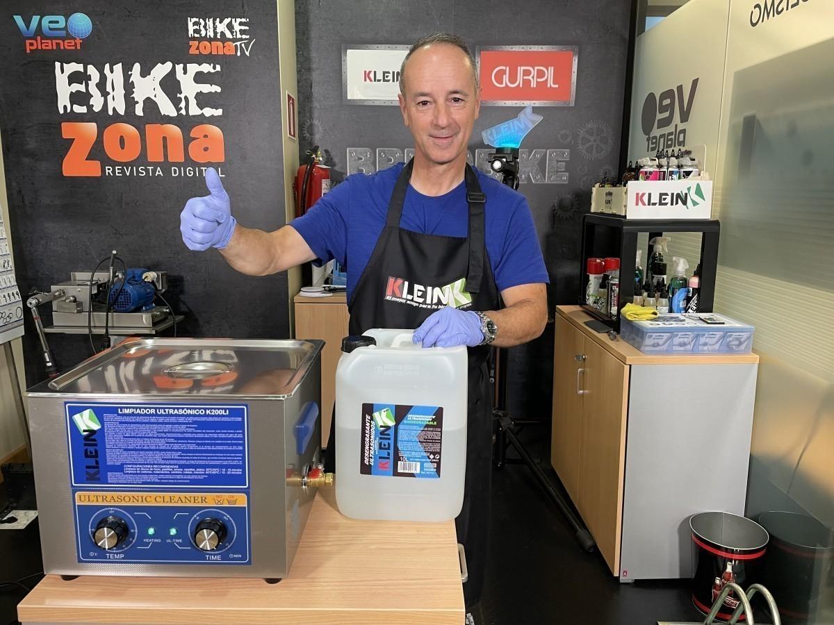 Klein K200LI, ultrasonidos para una limpieza perfecta de los componentes de tu bicicleta