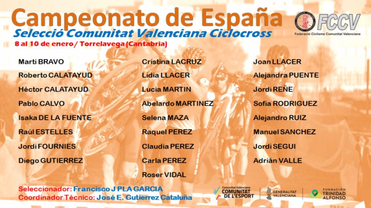 La FCCV acudirá con 25 ciclistas al Campeonato de España de ciclocrós de Torrelavega