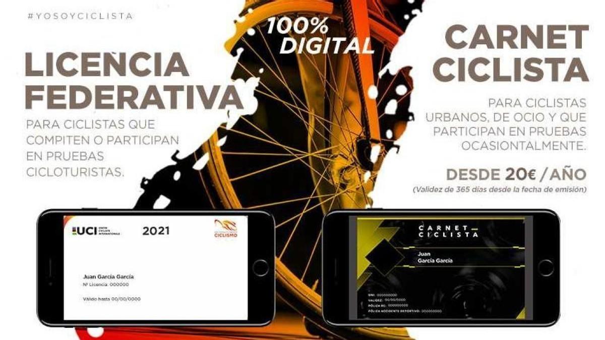 Solicita ya tu Licencia Federativa o Carnet Ciclista 100% digital