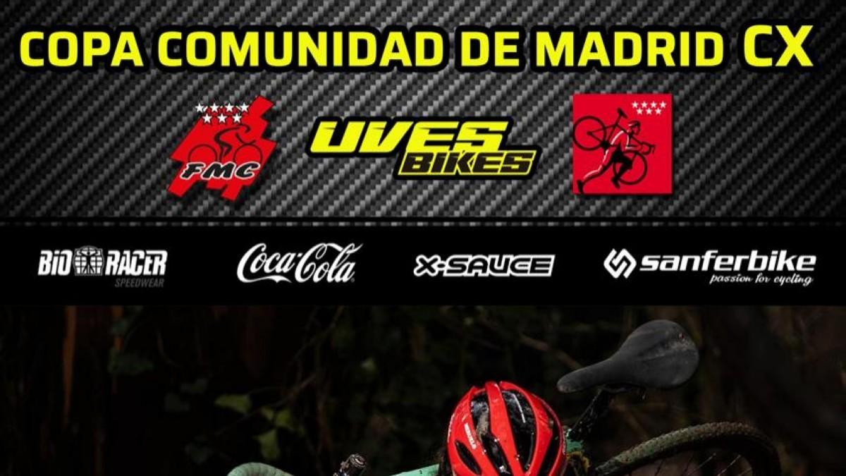 La XVII Copa Comunidad de Madrid de ciclocross 2021-22 arranca el 2 de octubre