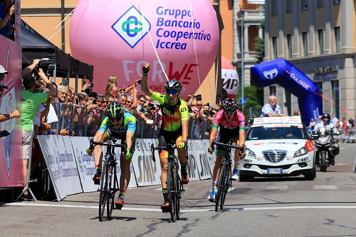 Letizia Borghesi gana su primera etapa en el Giro Rosa
