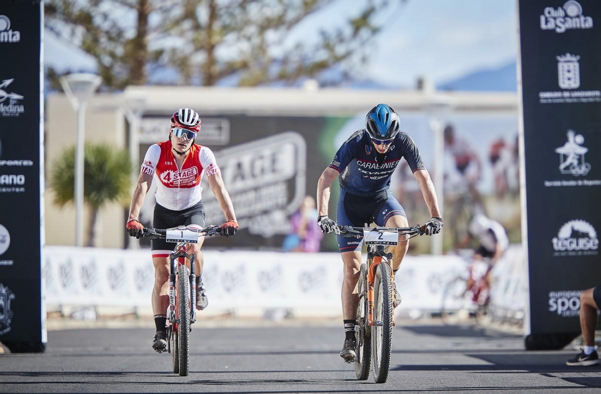 Luca Braidot y Caroline Bohé ganan la segunda etapa de la 4 Stage MTB Race Lanzarote
