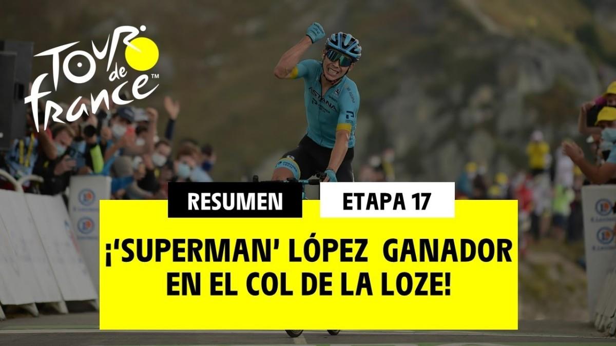 Miguel Ángel López y Primoz Roglic los grandes triunfadores en la etapa reina