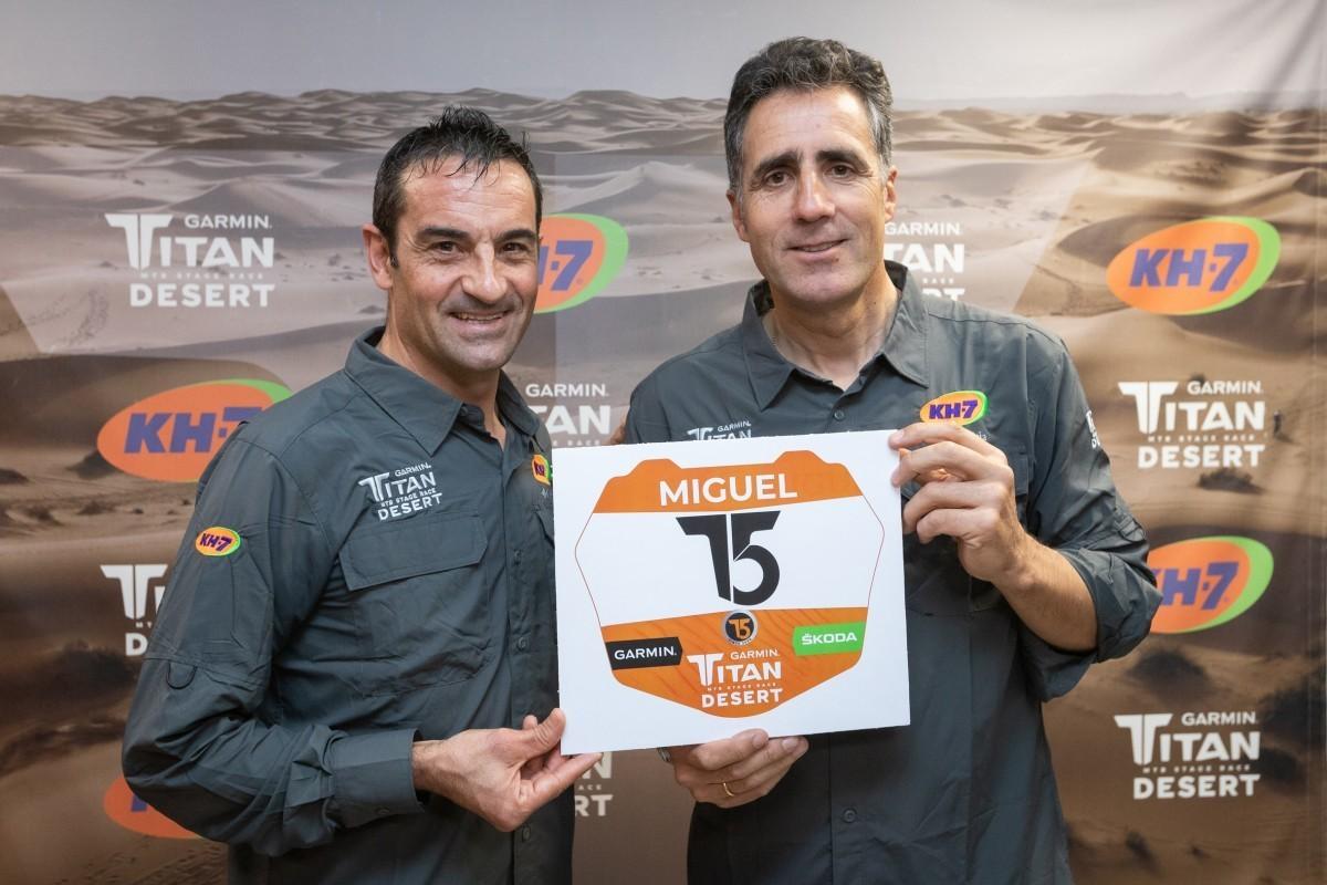 Miguel Indurain preparado para competir en la Titan Desert 2020
