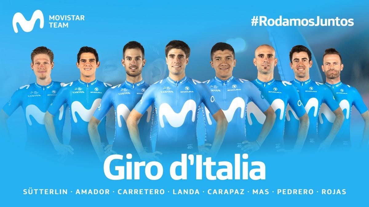 Movistar Team anuncia su equipo para el Giro de Italia con la presencia de Landa
