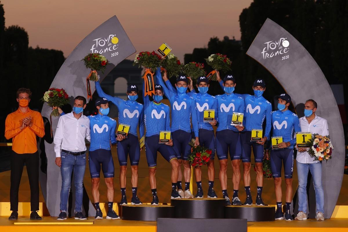 Movistar Team finaliza el Tour como mejor equipo de la carrera