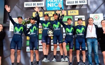 Movistar Team mejor equipo en la Paris Niza