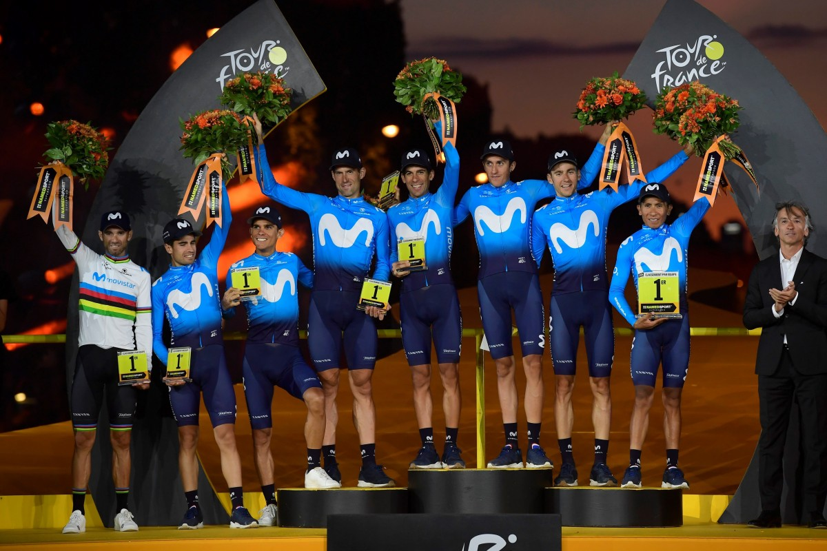 Movistar Team, el mejor equipo, sube un año más en el podio de París
