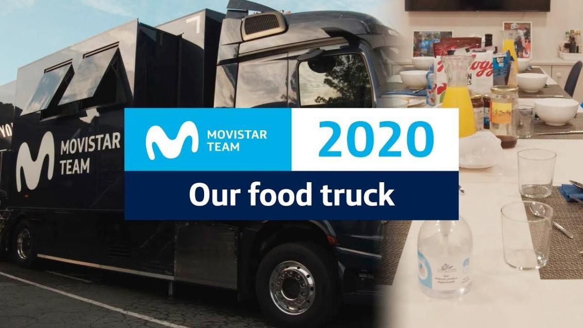 Movistar Team presenta su espectacular camión-cocina