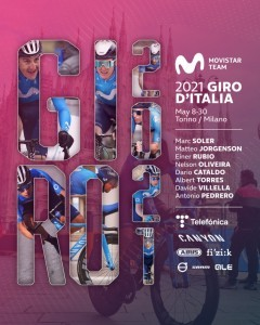 Movistar Team ya tiene su ocho para el Giro de Italia 2021