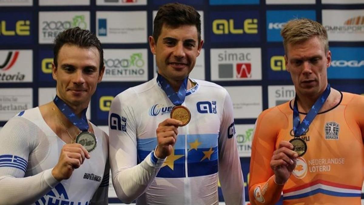 Oro en Scratch para Sebastián Mora en los europeos de pista
