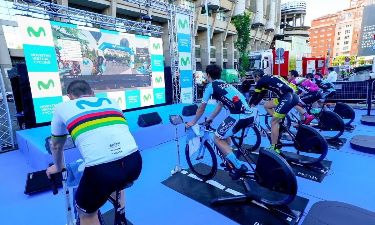 Pamplona sede de la segunda de las pruebas Endurance de Movistar Virtual Cycling