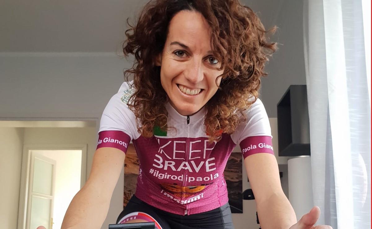 Pedaleo solidario: Paola Gianotti recorrerá 350 km sobre el rodillo