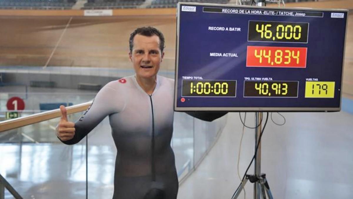 Pep Tatché bate el récord español de la hora elite que databa de 1971