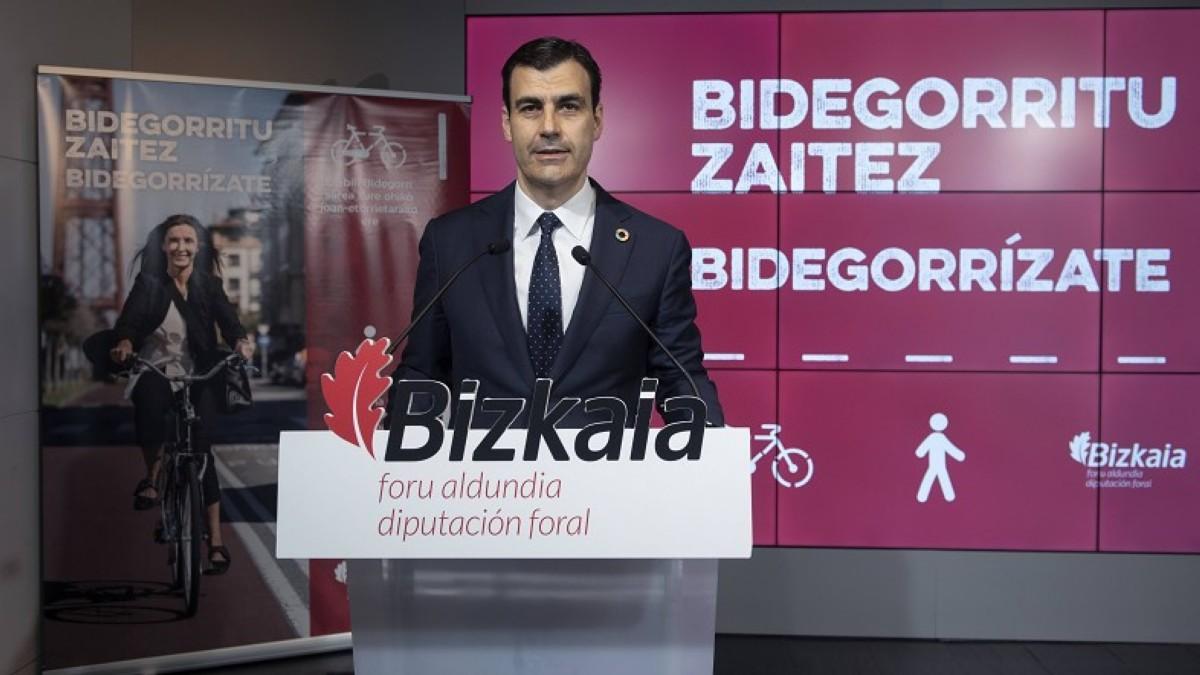 Presentada la campaña para promocionar el uso de bidegorris en Bizkaia