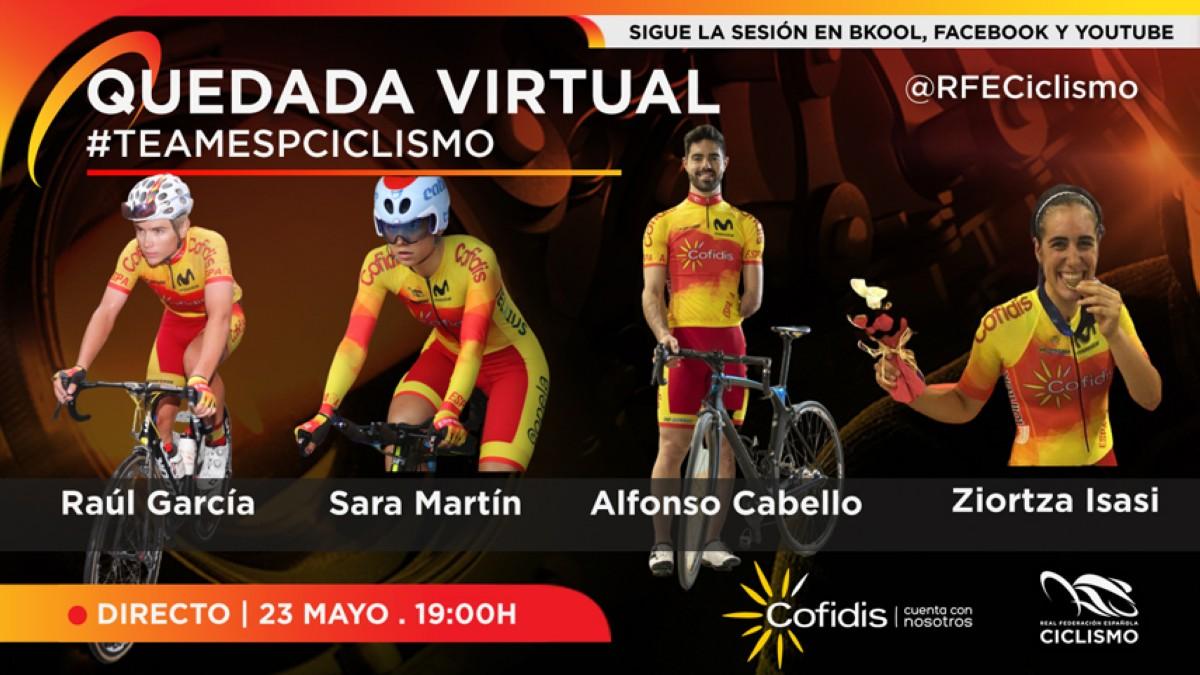 Primera quedada virtual con el #TeamESPciclismo