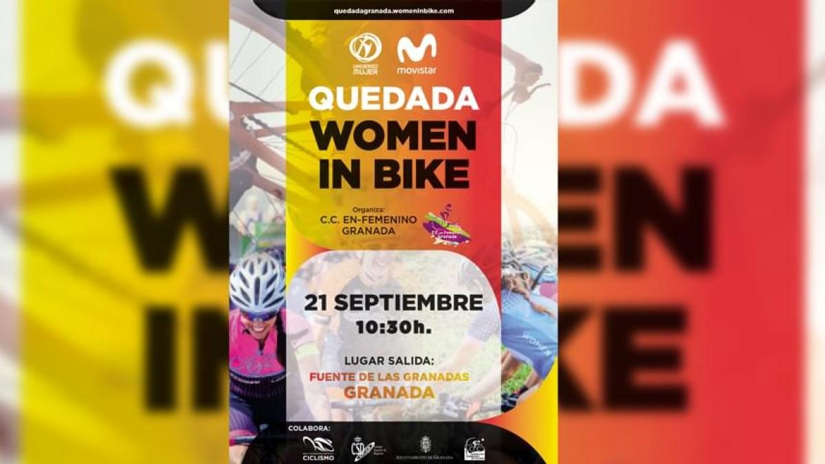 Quedada ciclista femenina Women In Bike en Granada