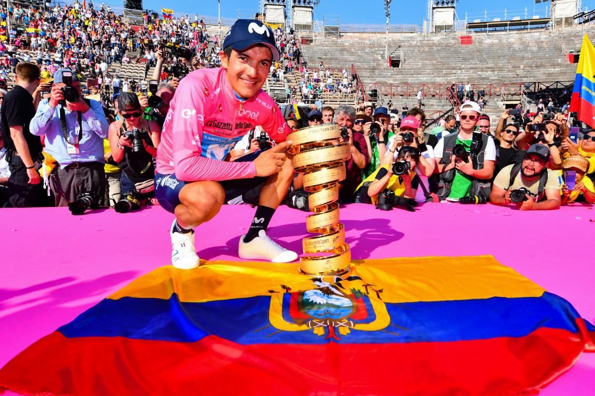 Richard Carapaz y Movistar Team triunfan en el Giro de Italia