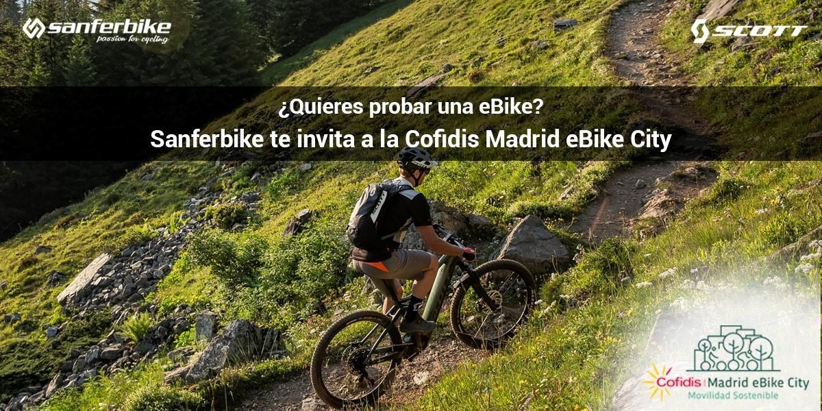 Sanferbike estará en la Cofidis Madrid e-bike City