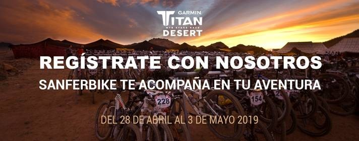 Sanferbike presenta sus servicios para ayudarte a superar la Titan Desert