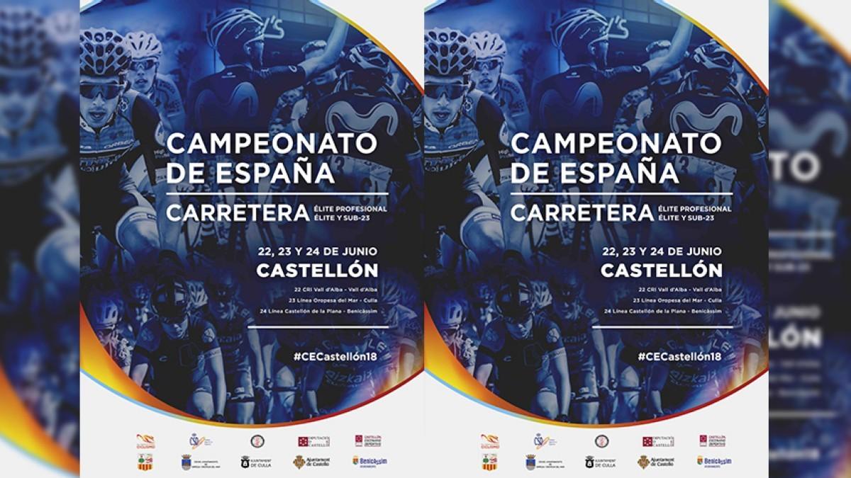 Toda la info sobre los recorridos del Campeonato de España de carretera