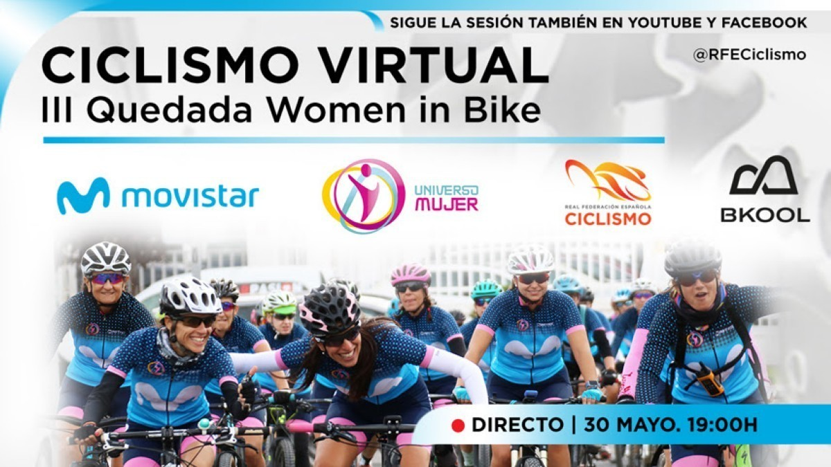 Todo preparado para la tercera quedada virtual Women in Bike