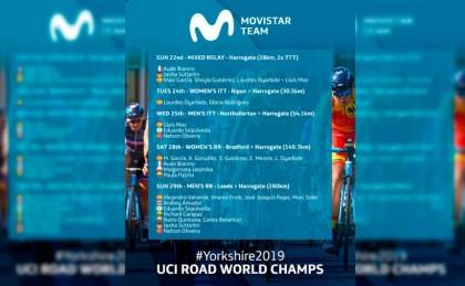 21 corredores de Movistar Team en los Campeonatos del Mundo