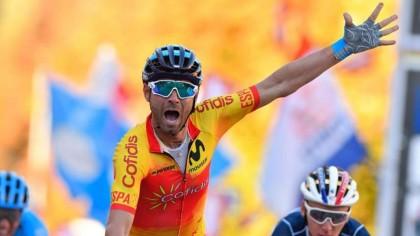 Alejandro Valverde a la cabeza de la selección en el Mundial de Yorkshire