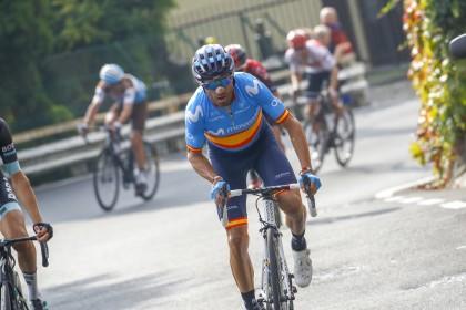 Alejandro Valverde despide la temporada desde el podio