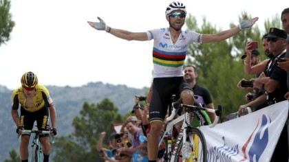 Alejandro Valverde ganador de la I Copa de España de Ciclismo Profesional